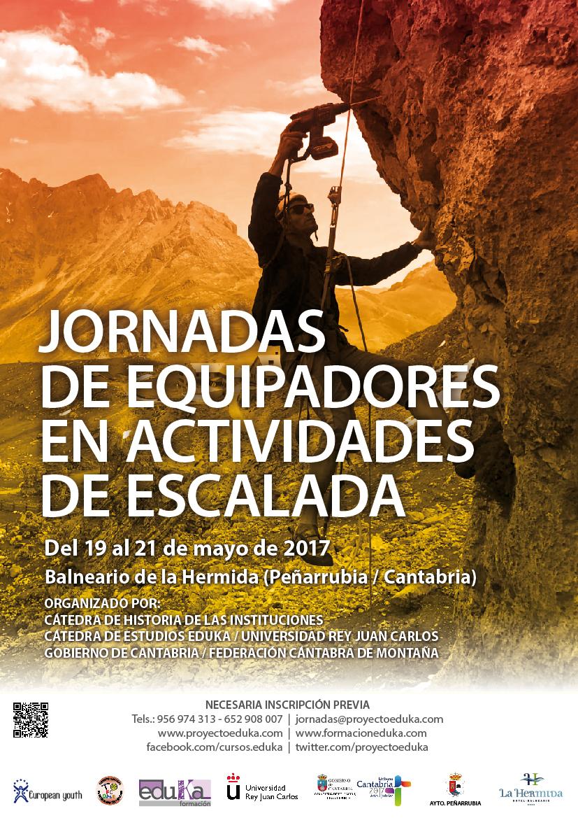 cartel jornadas equipadores actividades escalada